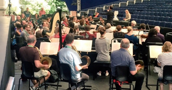 Opera Holland Park orchestra pit
