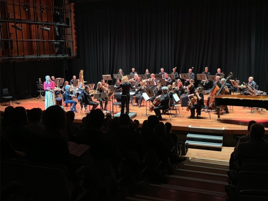 Full orchestra at the QEH