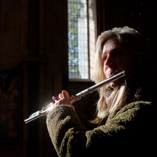 Karen Jones (flute) by Tom Bowles