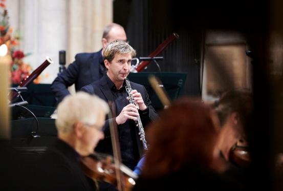 Dan Bates (oboe) by Tom Bowles