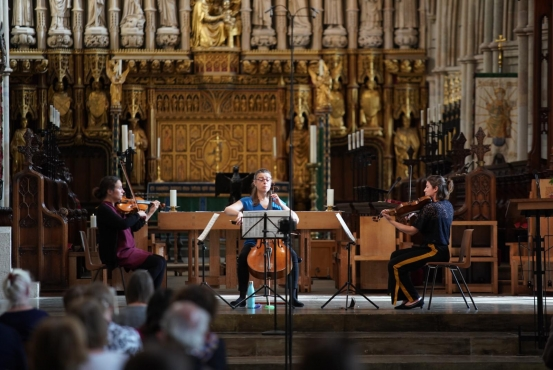 String trio at Southwark Cathedral by Apple and Biscuit